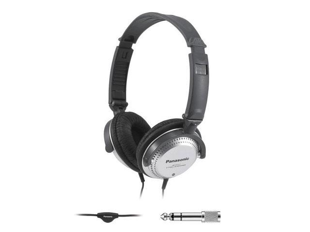 Panasonic RP-HT227 3.5mm/ 6.3mm Connector Circumaural Monitor Headphone with In-cord Volume Control