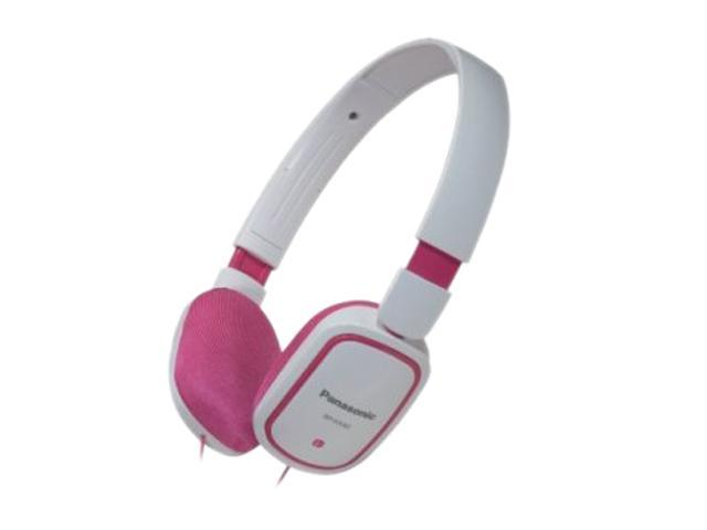 Panasonic Pink/White RP-HX40-PW 3.5mm Connector On-Ear SLIMZ Light-Weight Headphone (Pink/White)