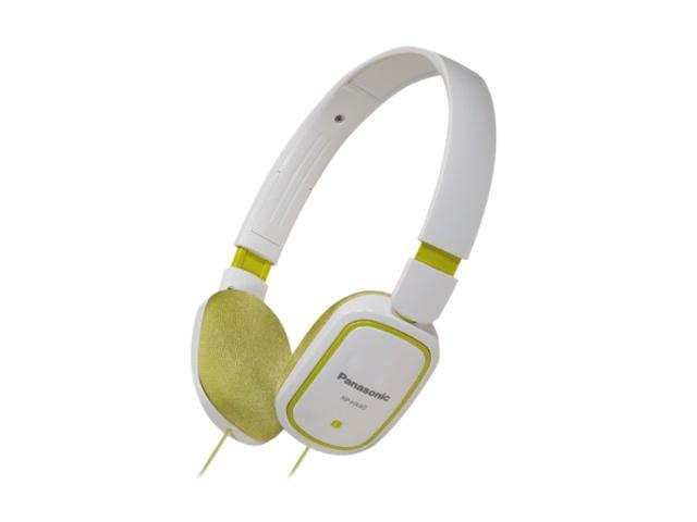 Panasonic RP-HX40-G 3.5mm Connector On-Ear SLIMZ Light-Weight Headphone - Green/White