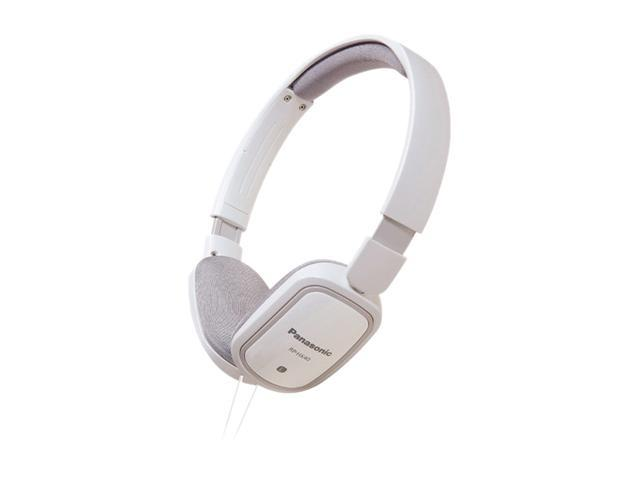 Panasonic RP-HXC40-W 3.5mm Connector On-Ear Light-Weight Headphone w/ Remote & Mic - White
