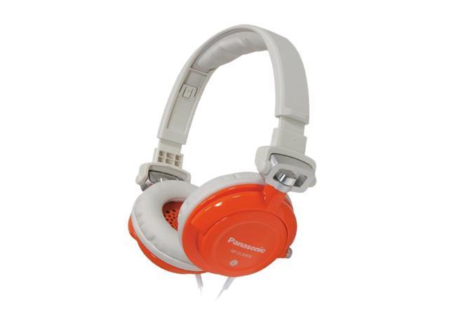 Panasonic RP-DJS400-D 3.5mm Connector Supra-aural DJ Street Style Headphone (Orange)