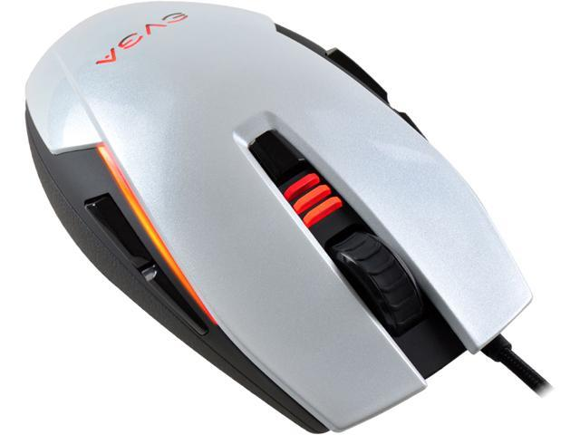 EVGA TORQ X5 White 8 Buttons 1 x Wheel Wired Optical 6400 dpi Gaming Mouse