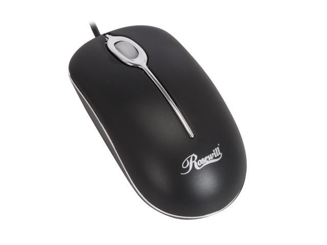 Rosewill RM-C2U Black 3 Buttons 1 x Wheel USB Wired Optical 800 dpi Mouse