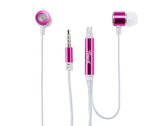 Rosewill E-210-VL Violet Passive Noise Isolating Earbuds with Mic & Control Button for Smartphones, 3.5mm Connector