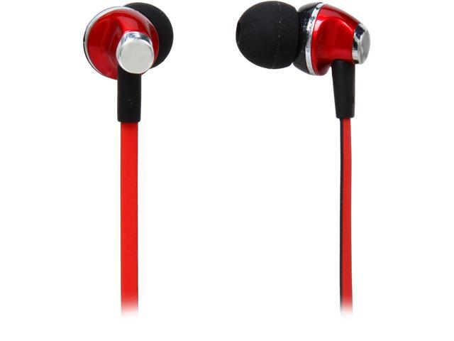 Rosewill E-360-BKR Black and Red Passive Noise Isolating Earbuds with Mic & Multi-function Control Button for Smartphones, 3.5mm Connector