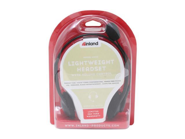 inland 87070 3.5mm Connector Light weight Headset w/volme control