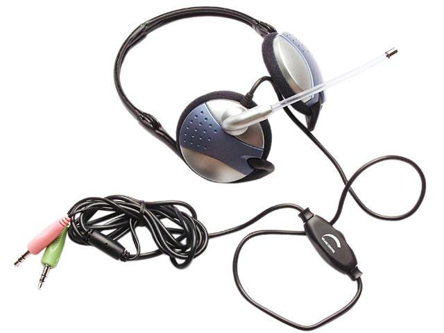 inland 87075 3.5mm Connector Dynamic Stereo Headset with Volume Control