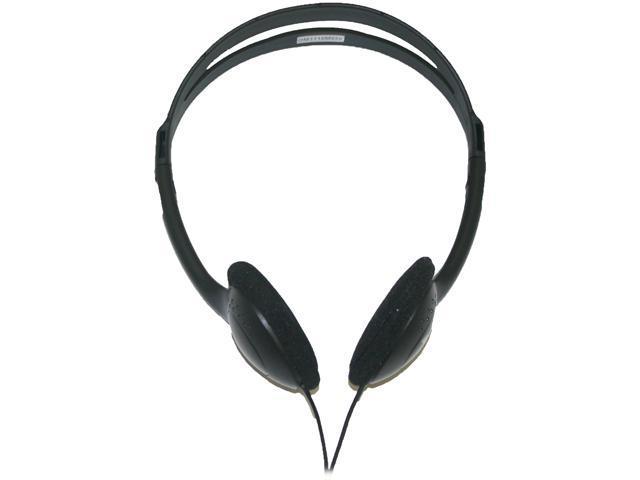 inland 87010 3.5mm Connector Supra-aural Lightweight Headphones with Volume Control