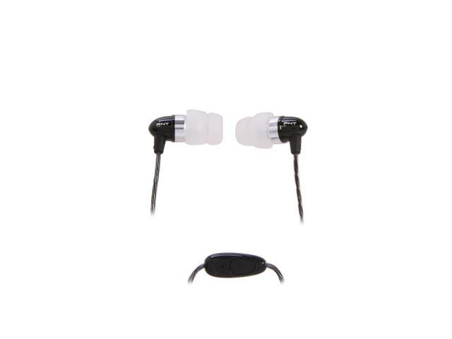 PNY Midtown 200 Series Black/Silver 3.5mm Stereo Headset AUD-E-201-BK-M-RB