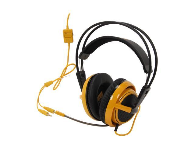 SteelSeries Siberia V2 3.5mm Connector Circumaural Full-Size Gaming Headset - Yellow