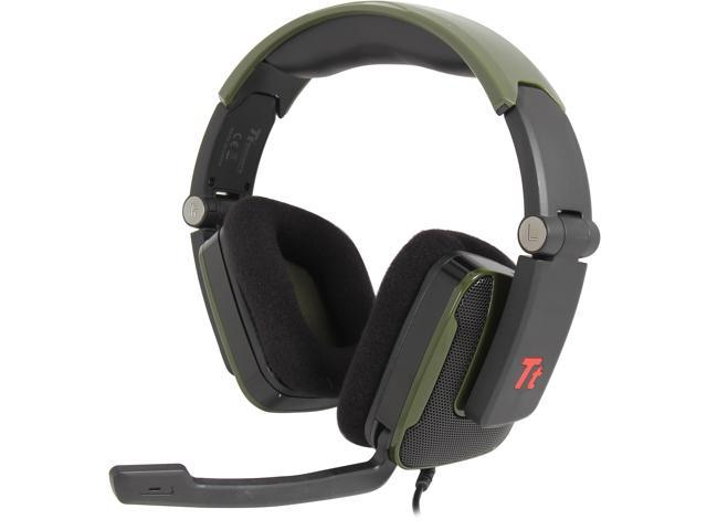 Tt eSPORTS SHOCK Battle Edition 3.5mm x2 Connector Headset - Green