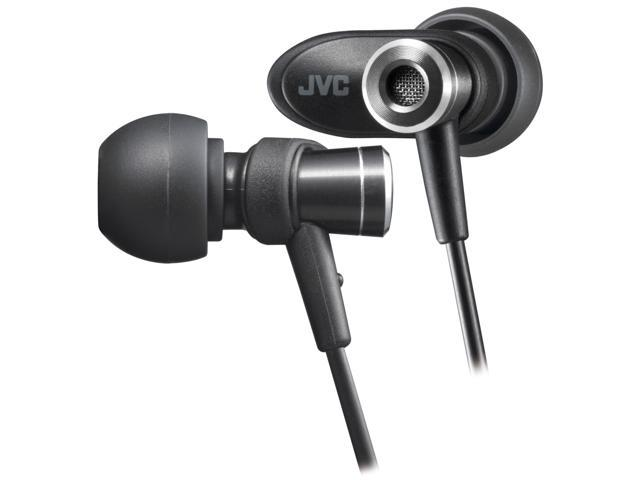 JVC Black HA-FXC51 3.5mm Connector Inner-Ear Micro HD Earphone (Black)