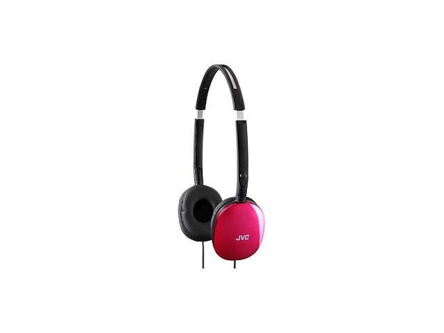 JVC HA-S160P 3.5mm Connector Supra-aural FLATS Lightweight Headband Headphones (Pink)
