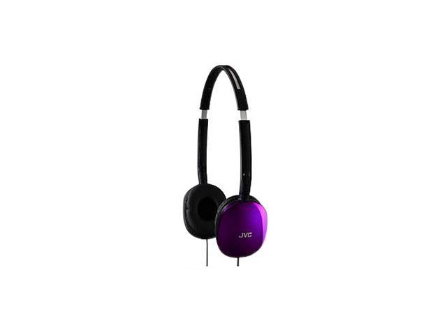 JVC HA-S160V 3.5mm Connector Supra-aural FLATS Lightweight Headband Headphones (Violet)