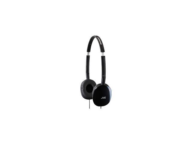 JVC Black HA-S160B 3.5mm Connector Supra-aural Flats Lightweight Headband Headphone (Black)