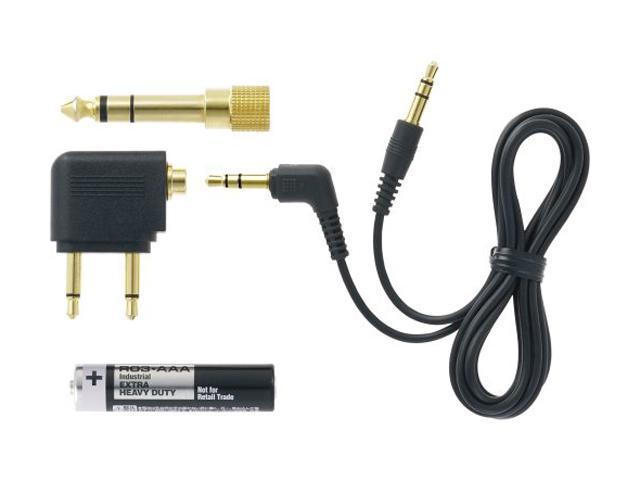 JVC HANC250 3.5mm/ 6.3mm Connector Circumaural High-Grade Noise-Cancelling Headphones