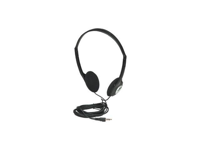 Manhattan 177481 Stereo Headphones with Adjustable Headband Black
