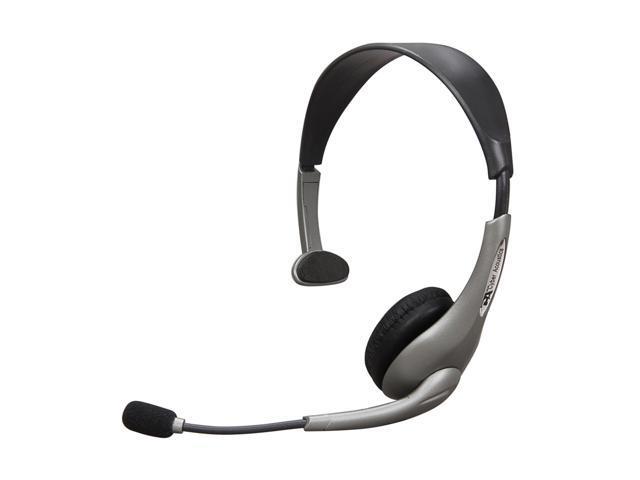 Cyber Acoustics AC-840 USB Connector Single Ear Internet Communication Mono Headset & Boom Mic