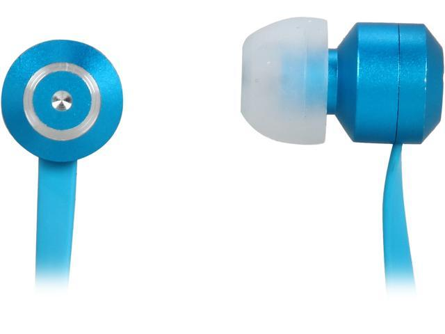 Tenqa Blue Bullseyes Blue 3.5mm Connector Aluminum Earbuds with Mic and Remote
