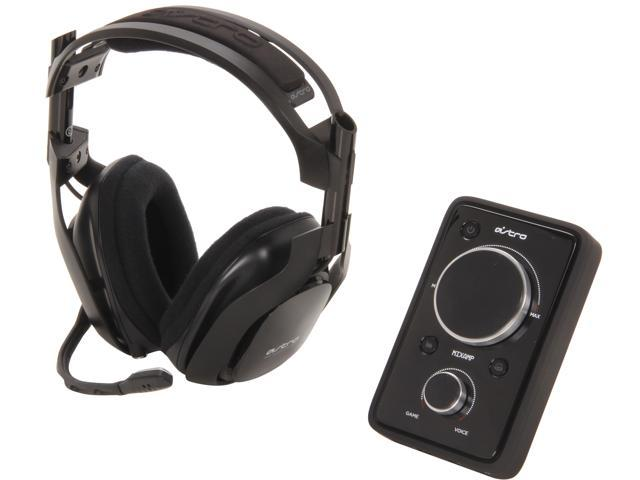 Astro Gaming A40 Quick Disconnect Connector Circumaural Wired Headset + MixAmp Pro - Black