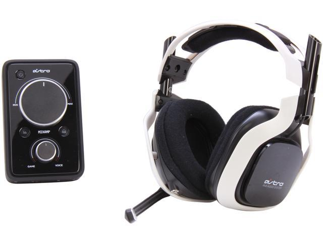 Astro Gaming A40 Quick Disconnect Connector Circumaural Wired Headset + MixAmp Pro - White