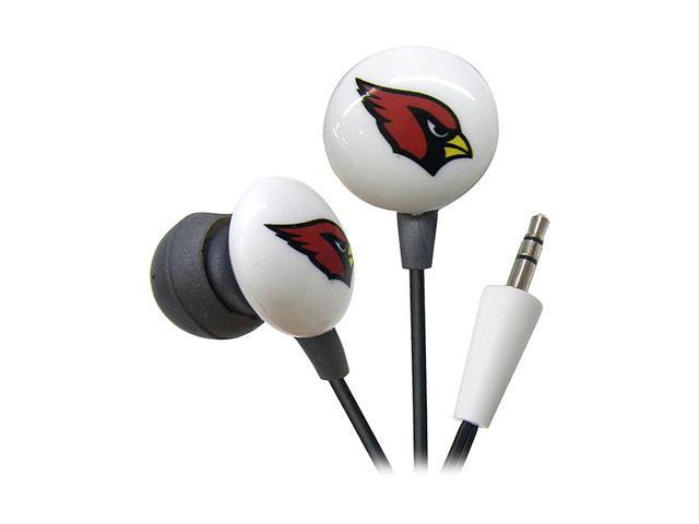 IHIP Red/Black NFF10200AZC NFL Arizona Cardinals Mini Ear Buds, Red/Black