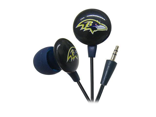 IHIP Purple/Black NFF10200BAR Baltimore Ravens Mini Ear Buds, Purple/Black