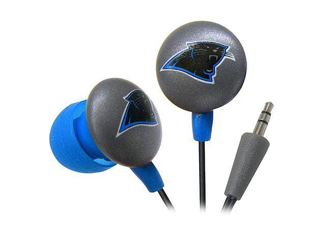 IHIP Blue/Black NFF10200CAP Carolina Panthers Mini Ear Buds, Blue/Black