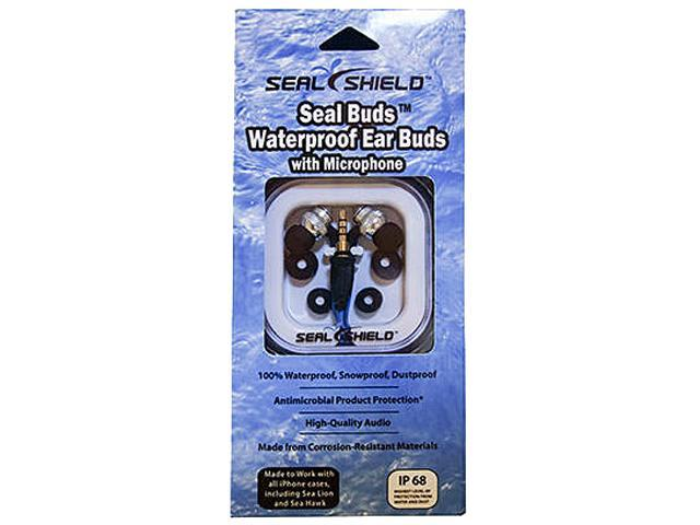 Seal Shield SSEM2 Earbud Seal Buds Antimicrobial Waterproof Ear Buds with Microphone