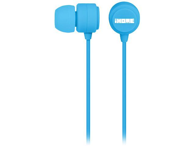 iHome Blue IB22L Rubberized Earphones