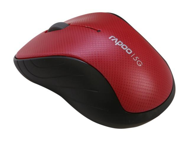 Rapoo 3000P Red 3 Buttons 1 x Wheel USB 5GHz Wireless Optical 1000 dpi Mouse