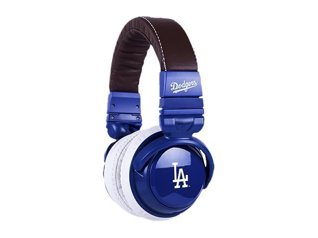 BiGR Audio XLMLBLAD1 3.5mm Connector Over-Ear Los Angeles Dodgers Headphones with In-Line Mic