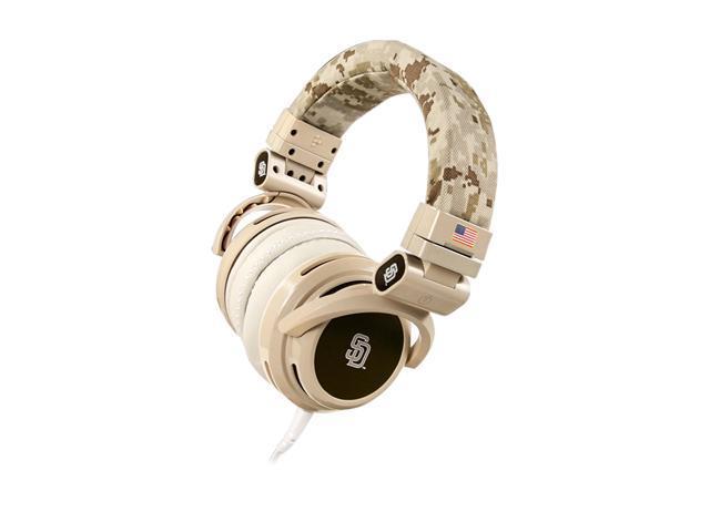 BiGR Audio Beige XLSDP1 3.5mm Connector Circumaural San Diego Padres Headphone