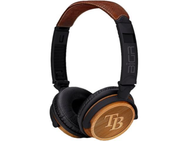 BiGR Audio XLMLBTBR3 Circumaural Tampa Bay Rays Natural Wood Finish Headphone