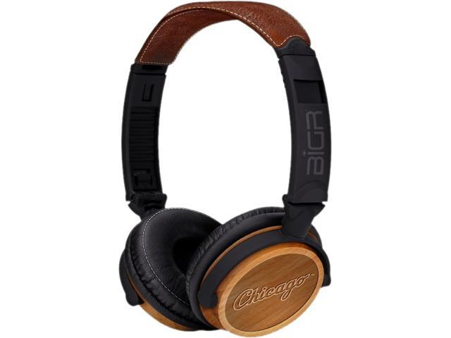 BiGR Audio XLMLBCWS3 Circumaural Chicago White Sox Natural Wood Finish Headphone