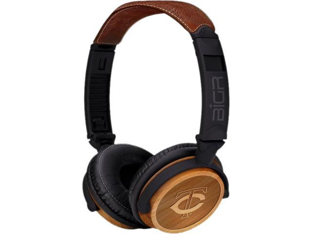 BiGR Audio XLMLBMB3 Circumaural Milwaukee Brewers Natural Wood Finish Headphone