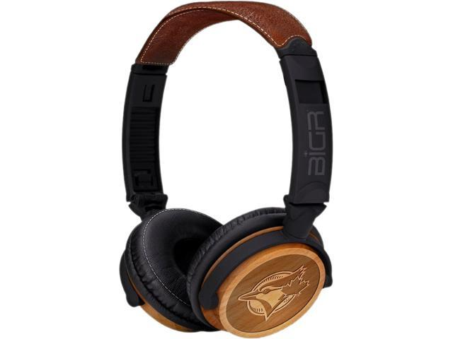 BiGR Audio XLMLBTBJ3 Circumaural Toronto Blue Jays Natural Wood Finish Headphone
