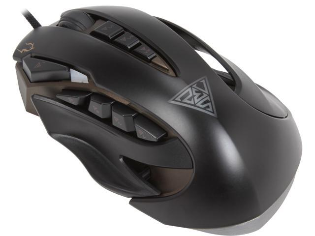 GAMDIAS ZEUS GMS1100 Black 11 Buttons 1 x Wheel USB Wired Laser 8200 dpi Gaming Mouse