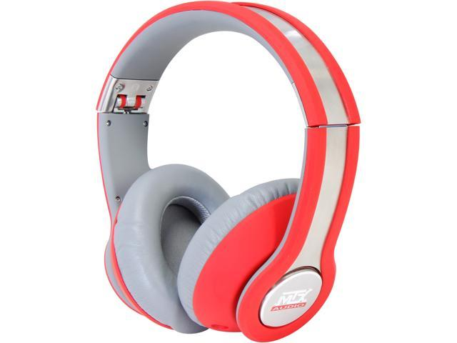 StreetAudio On Ear Acoustic Monitor Headphones- Red