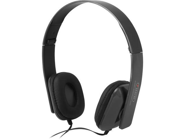 Sentry Black HPX-HO495 Folding Stereo Headphone