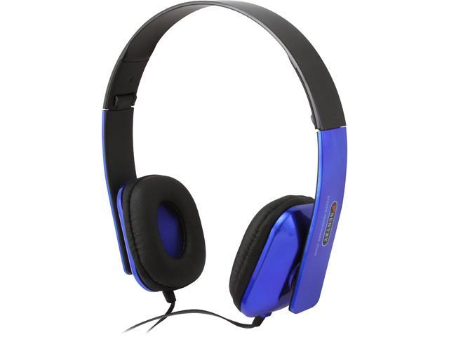 Sentry Blue HPX-HO496 3.5mm Connector Folding Stereo Headphone