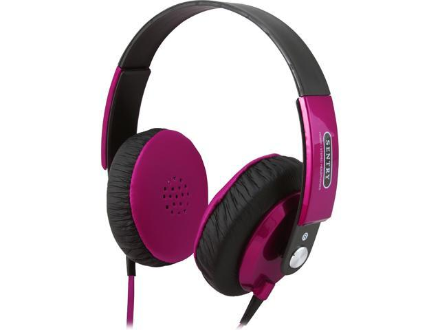 Sentry Pink HPX-HO868 3.5mm Connector FatBoys Digital Headphones