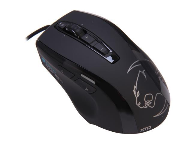 ROCCAT Kone XTD ROC-11-810 Black 8 Tilt Wheel USB Wired Laser 8200 dpi Max Customization Gaming Mouse