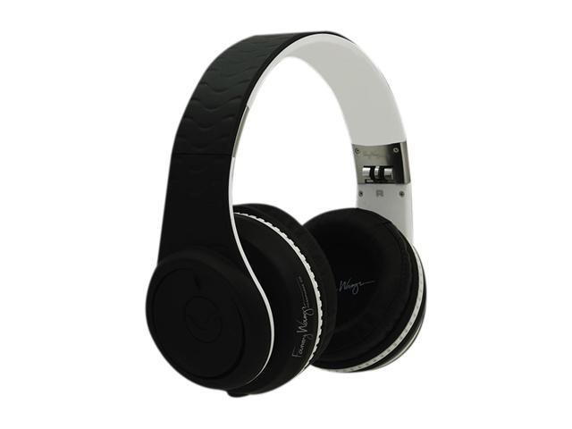 Fanny Wang Black/White FW-2003-BLK-WHI 3.5mm Connector Over-Ear Headphone (Black/White)