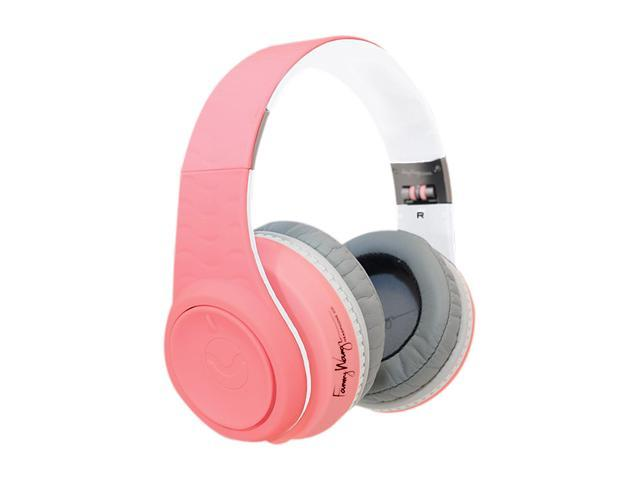 Fanny Wang Pink/White FW-2003-PNK-WHI 3.5mm Connector Over-Ear Headphone (Pink/White)