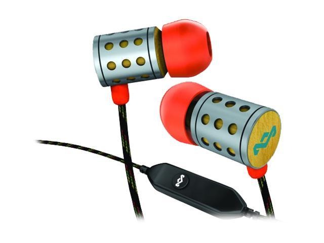 House of Marley EM-JE021-SU 3.5mm Connector In-Ear Midnight Ravers Headphone w/ Mic & 1-Button Controller - Sun