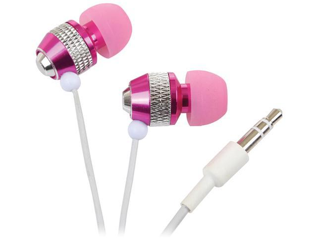 Rocksoul Pink ER-101081PC 3.5mm Connector Supra-aural Isolating Stereo Ear Phone for iPod , iPhone ,MP3, PC