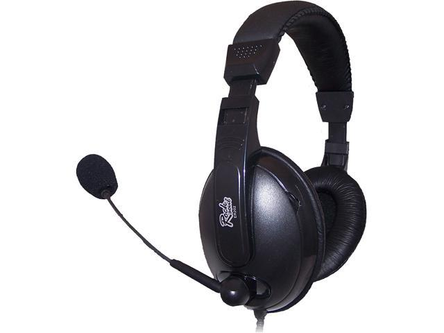 ROCKSOUL ER-202H750 3.5mm Connector Circumaural Stereo Headsets for Internet Telephony