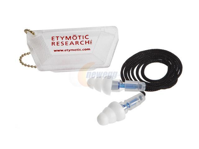 Etymotic Research ETY Plugs ER20-SCC-C Large High-Fidelity Earplugs (Clear)