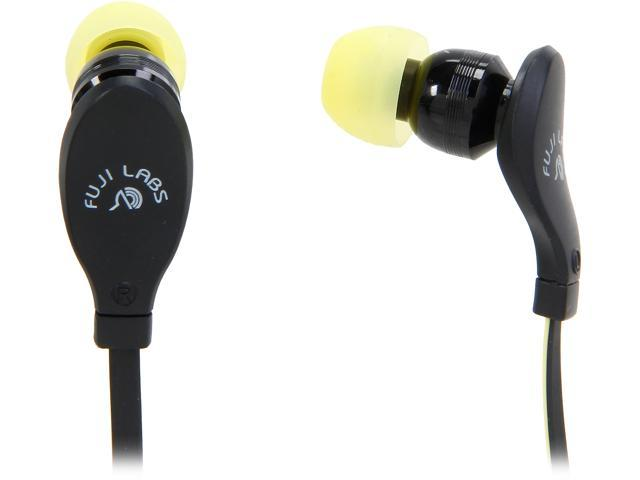 Fuji Labs Yellow AUFJ-SQNMS203YE 3.5mm Connector Sonique SQ203 Designer In-Ear Headphones